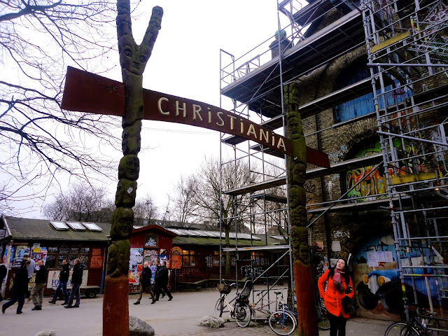 Archway entrance to Christiania, Copenhagen, Denmark