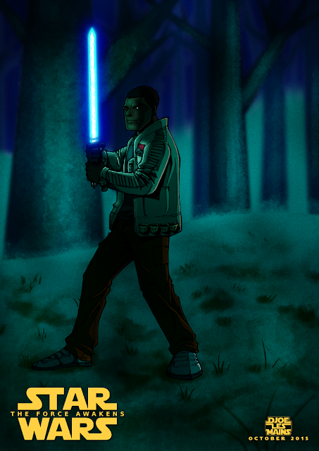 Fanart Illustration Finn Star Wars The Force Awakens (Le Réveil De La Force)