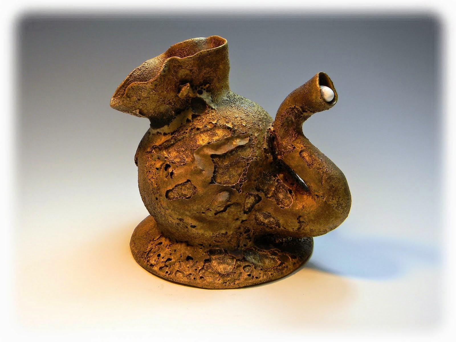 Don Pilcher pottery sculpture rascaware rascal ware Champaign
