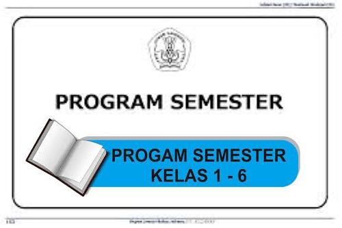 Download Program Semester 1 Kelas 1 6 Sd