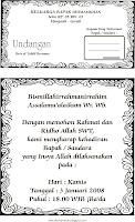 Undangan Walimatul 'Urusy, Hamly,Tahlil, Khitan & Haul Akbar