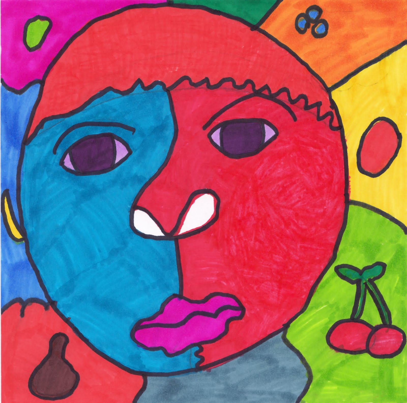 Picasso Self Portraits For Kids Picasso-inspired self portrait