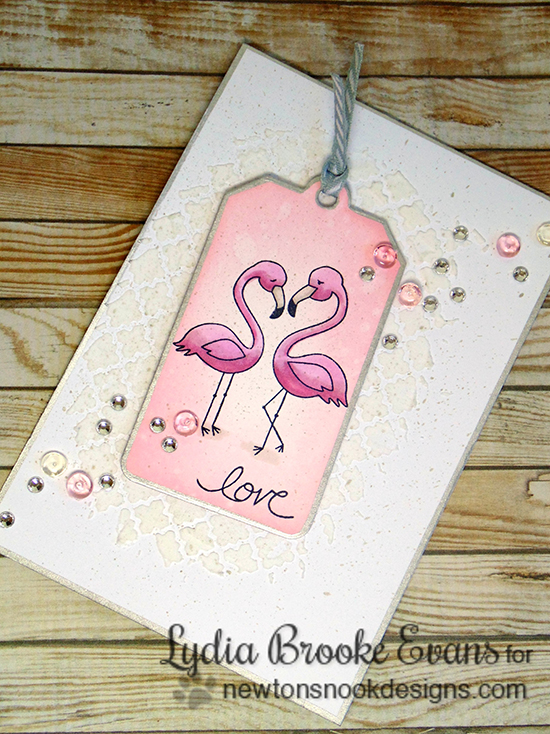 Pink Flamingo Card by Lydia Brooke | Flirty Flamingos Stamp set | Newton's Nook Designs