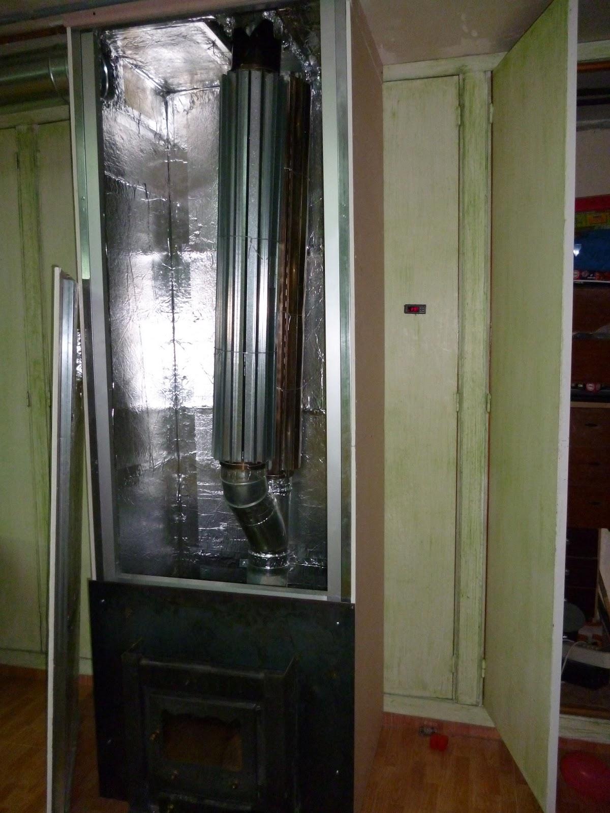 Calefacci n por aire calentado con estufa le a o cascara - Calefaccion por aire ...