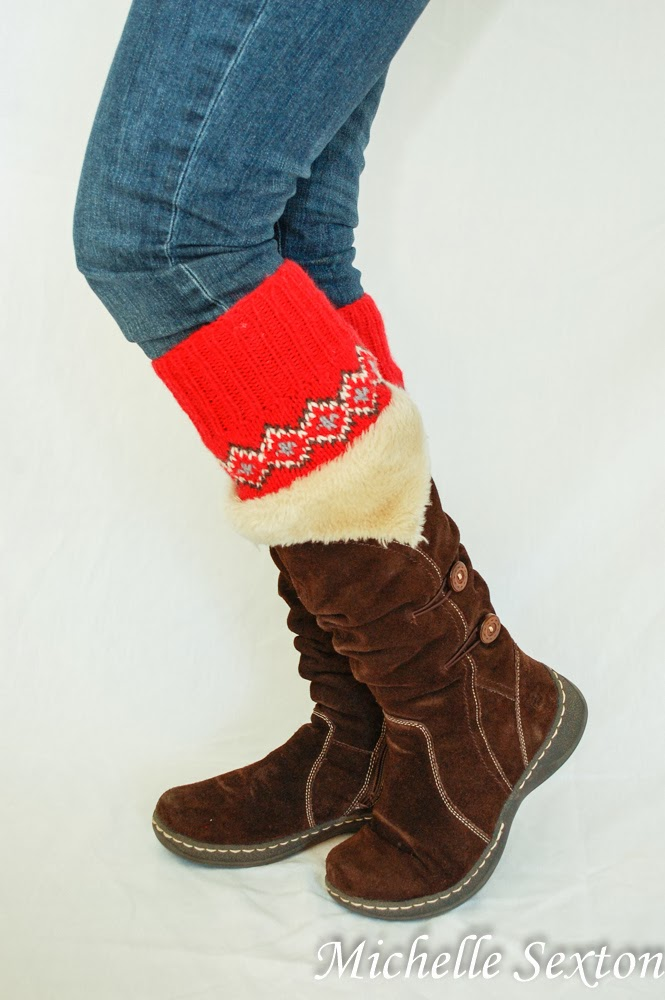 Make boot cuffs from a pair of sweater sleeves - simple 15 minute tutorial