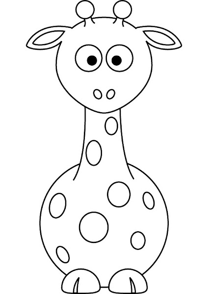 Baby Giraffe Coloring Page