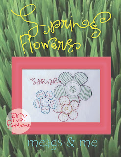 meags and me Spring Stitchery Patterns- Spring Flowers