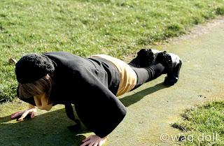 burpee in park