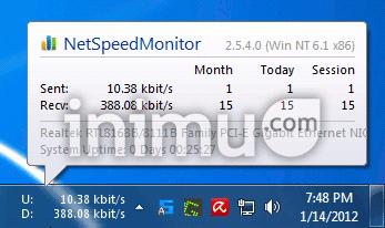 NetSpeedMonitor pantau kecepatan internet