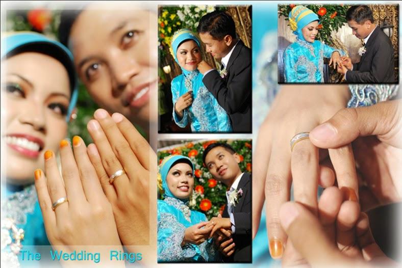 foto wedding saat prosesi acara lamaran dan tukar cincin
