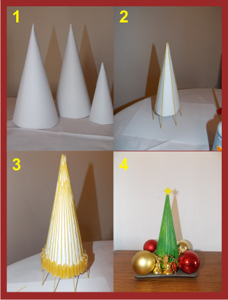 Como hacer árbol con pasta