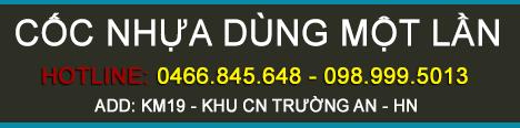 Cốc Nhựa Dùng Một Lần - Hotline: 0989995013 - 04.6684.5648