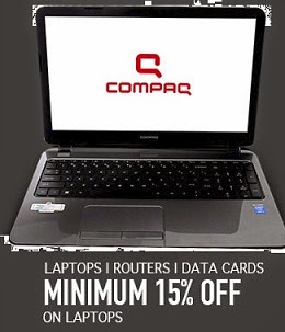 Get Minimum 15% Off – Max 57% Off on Laptop | Router | Data Cards @ Flipkart