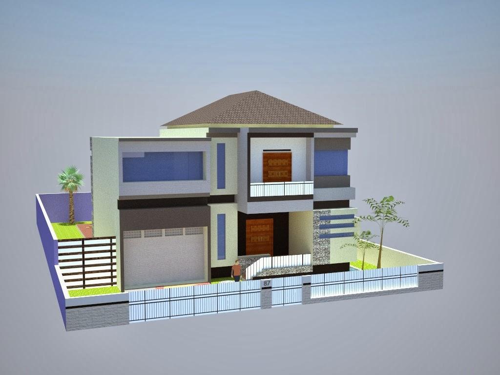 Contoh Desain Rumah Sederhana Minimalis  Desain Denah Rumah Minimalis