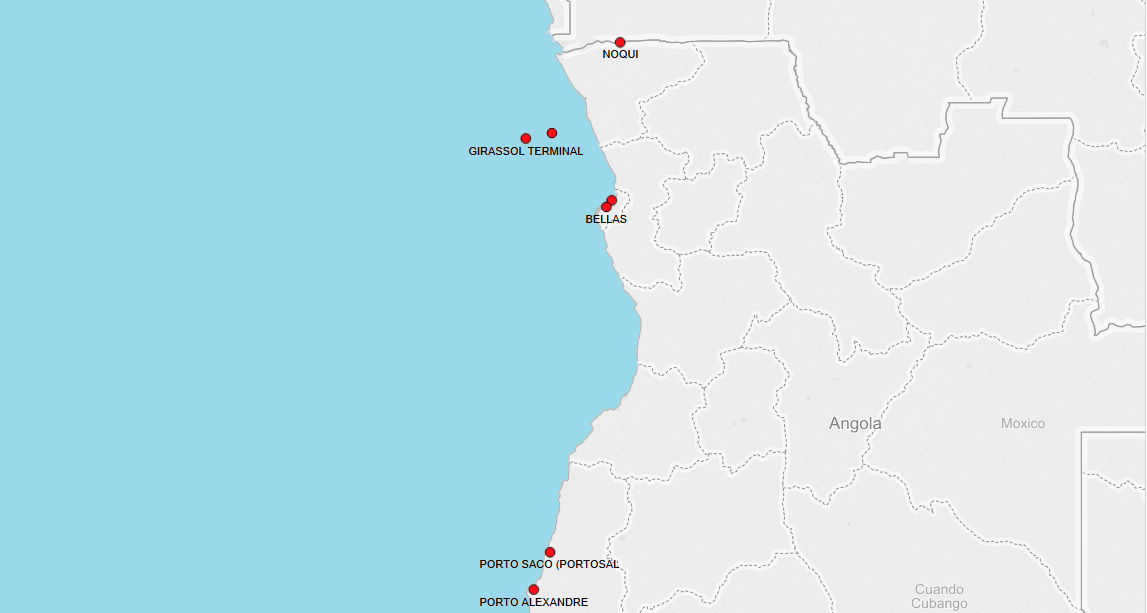 PORTS IN ANGOLA
