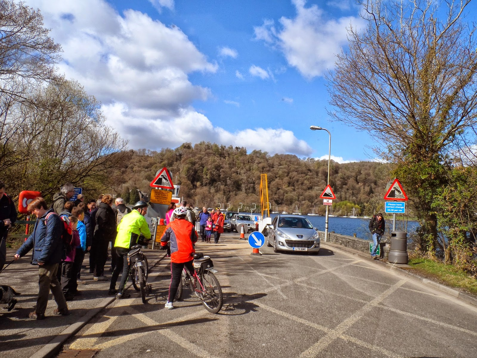 Waiting for the Windermere ferry.