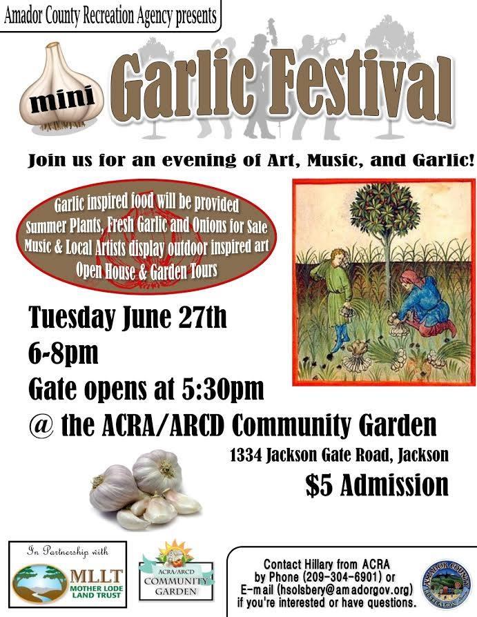 Mini-Garlic Festival - Tues Jun 27