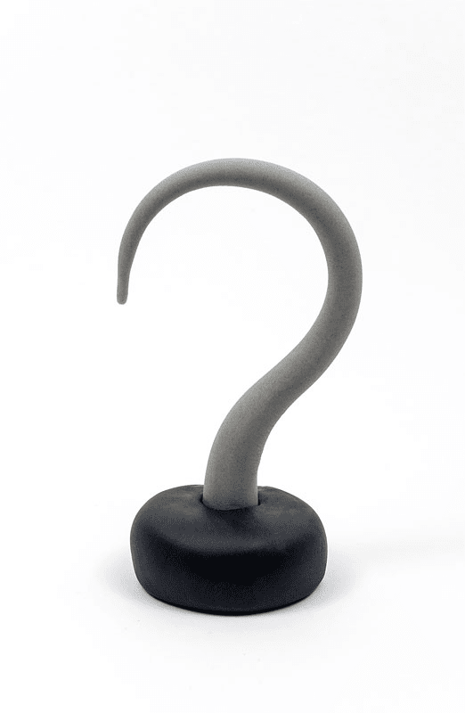 pirate hook from fondant close up