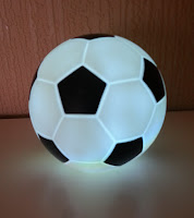 Football light lit up white