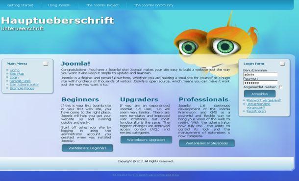 Free Joomla Ocean Blue Theme Template