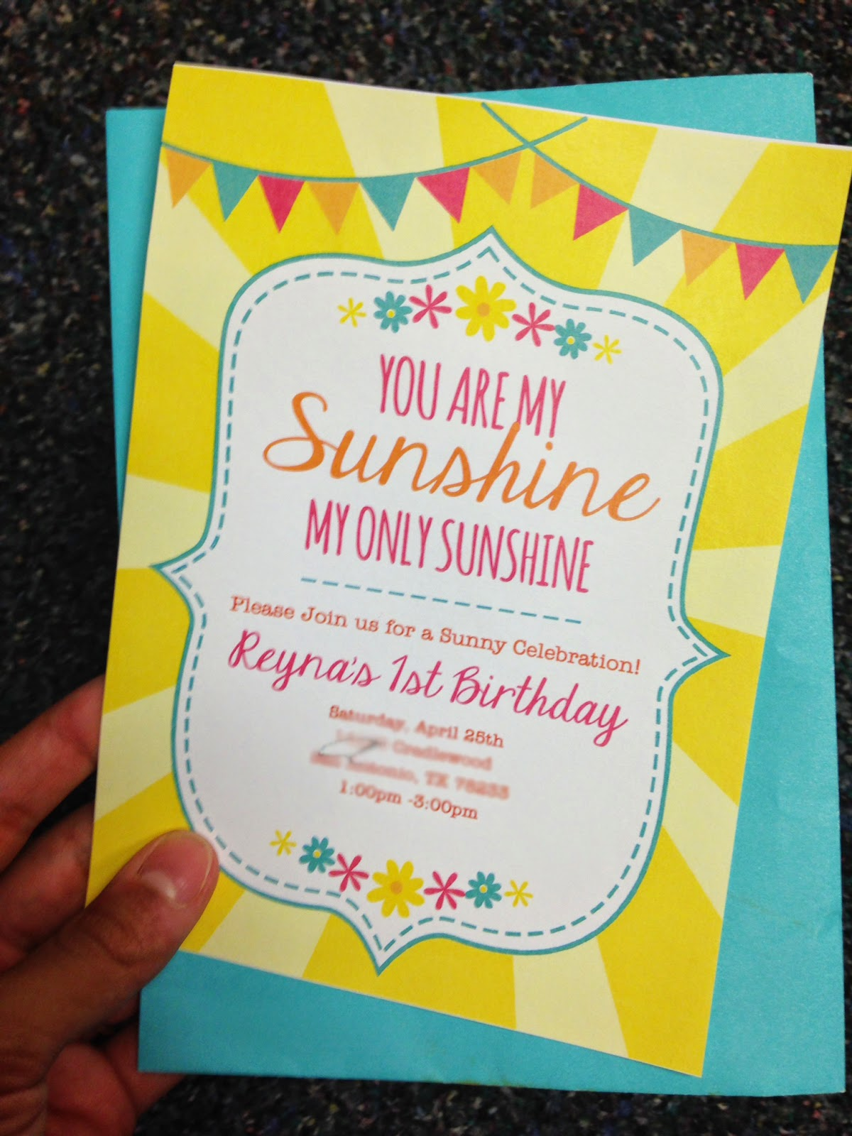 e Life to Love You are my Sunshine Birthday Party