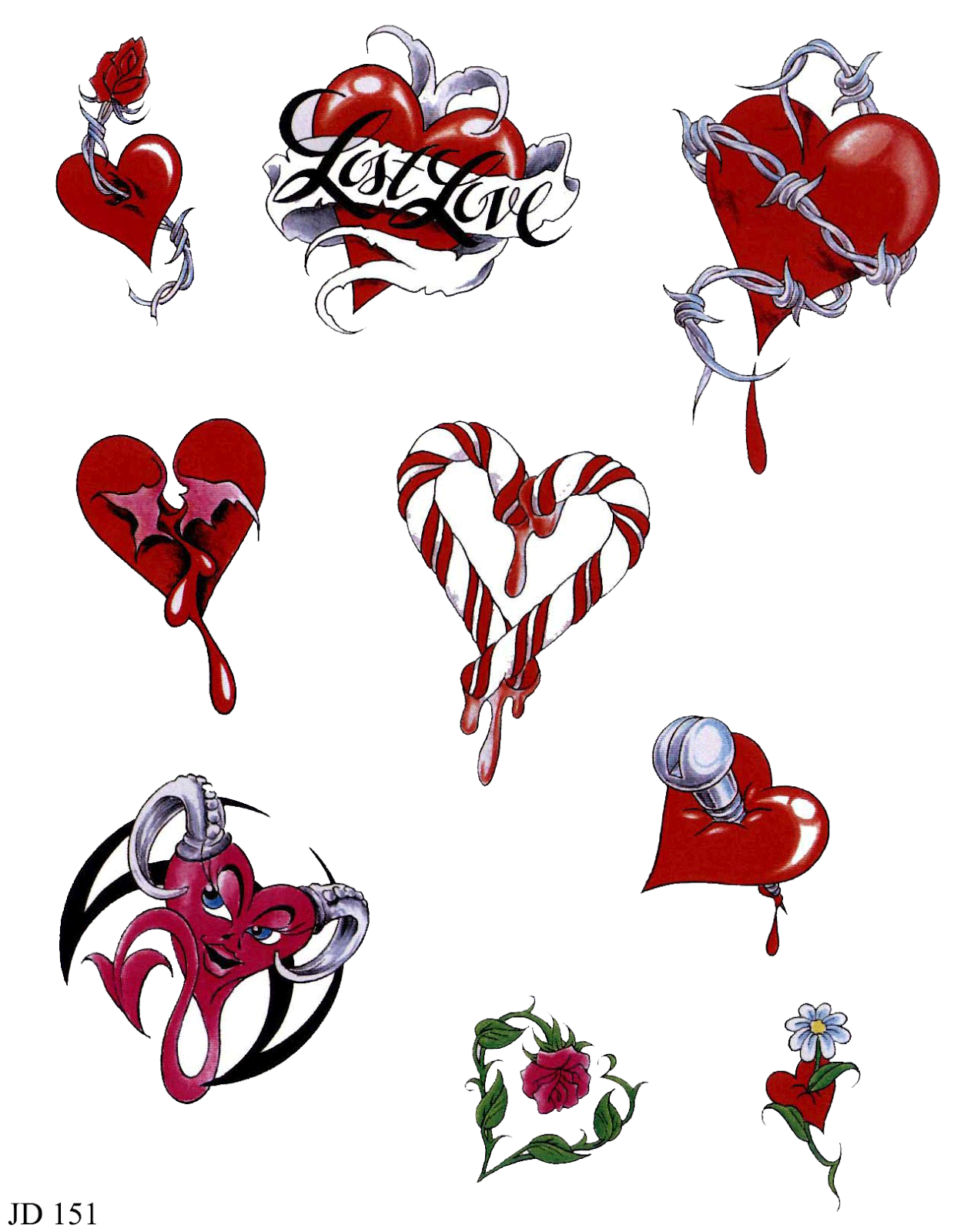corazones para tatuajes