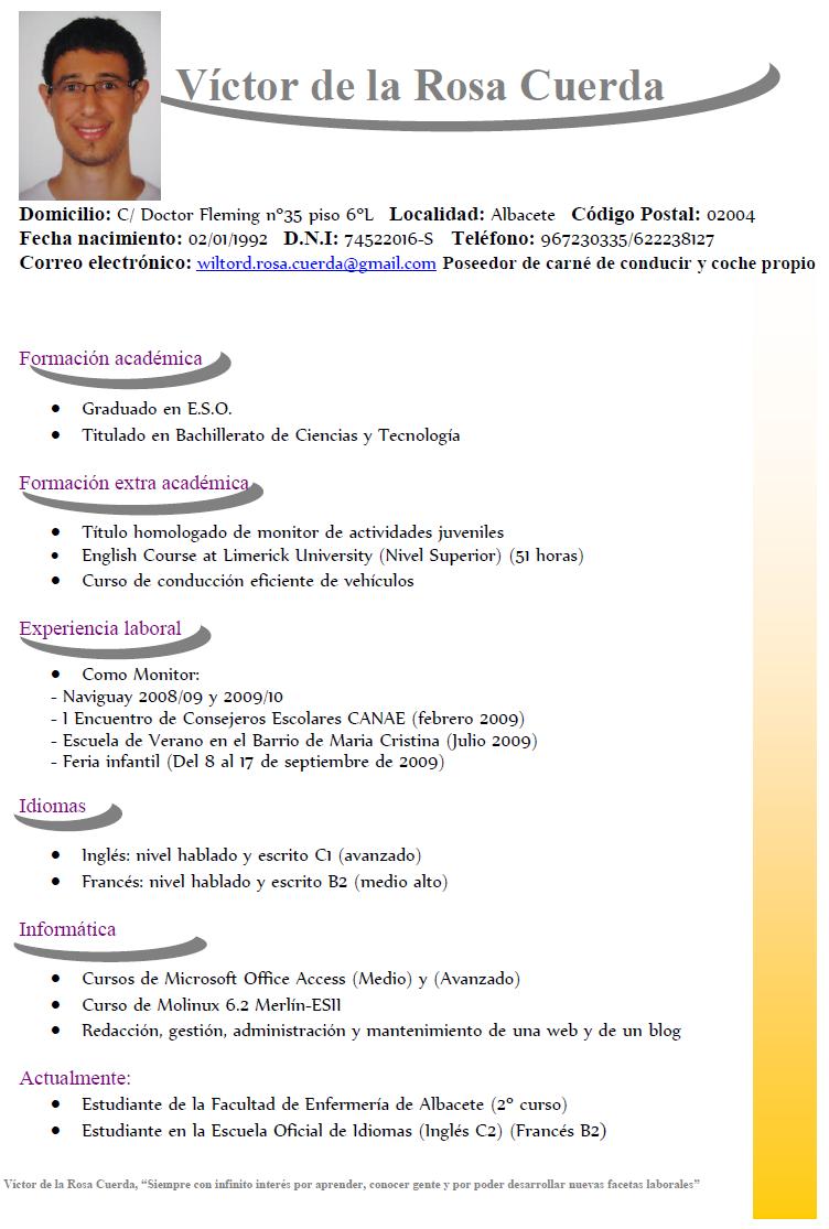 plantillas para openoffice writer curriculum vitae