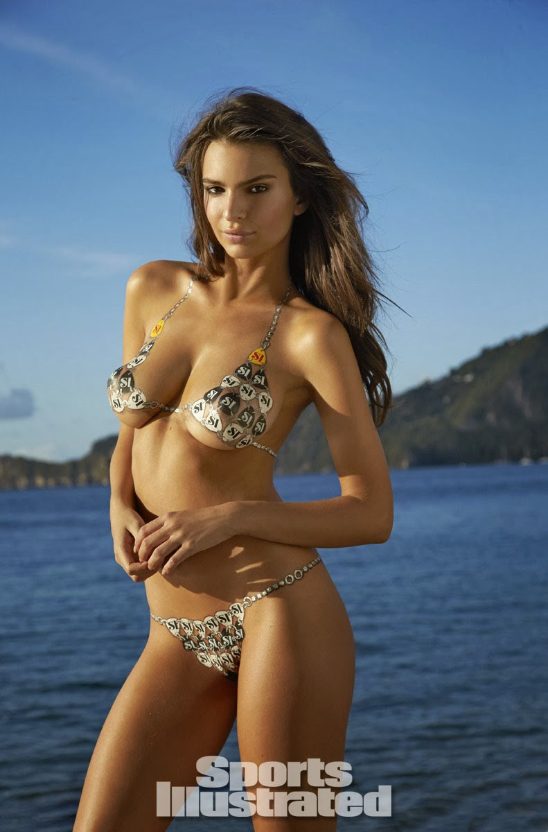 Emily Ratajkowski Body Paint Photos‭ ‬-‭ ‬Sports Illustrated Swimsuit‭ ‬2014