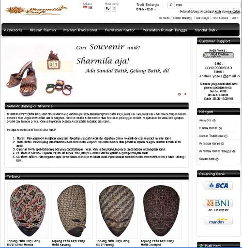 Tempat Kerajinan Batik Kayu Yogyakarta Sharmila Craft