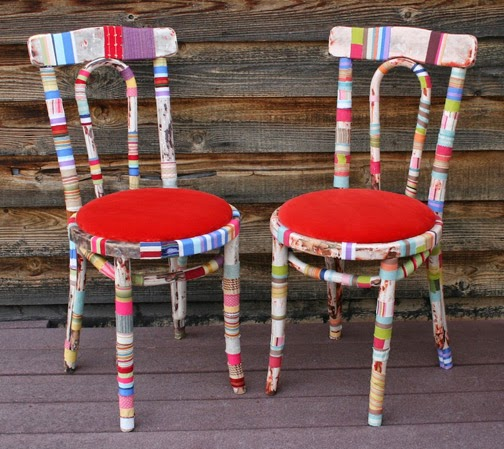 The art of up cycling upcycled chairs cool ideas for for Furniture upcycling
