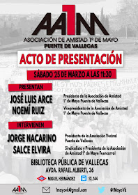 Acto de presentación de la Asociación de Amistad 1 de Mayo Puente de Vallecas
