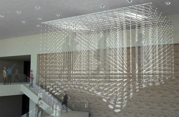 Geek Art Gallery Installation Memory Cloud