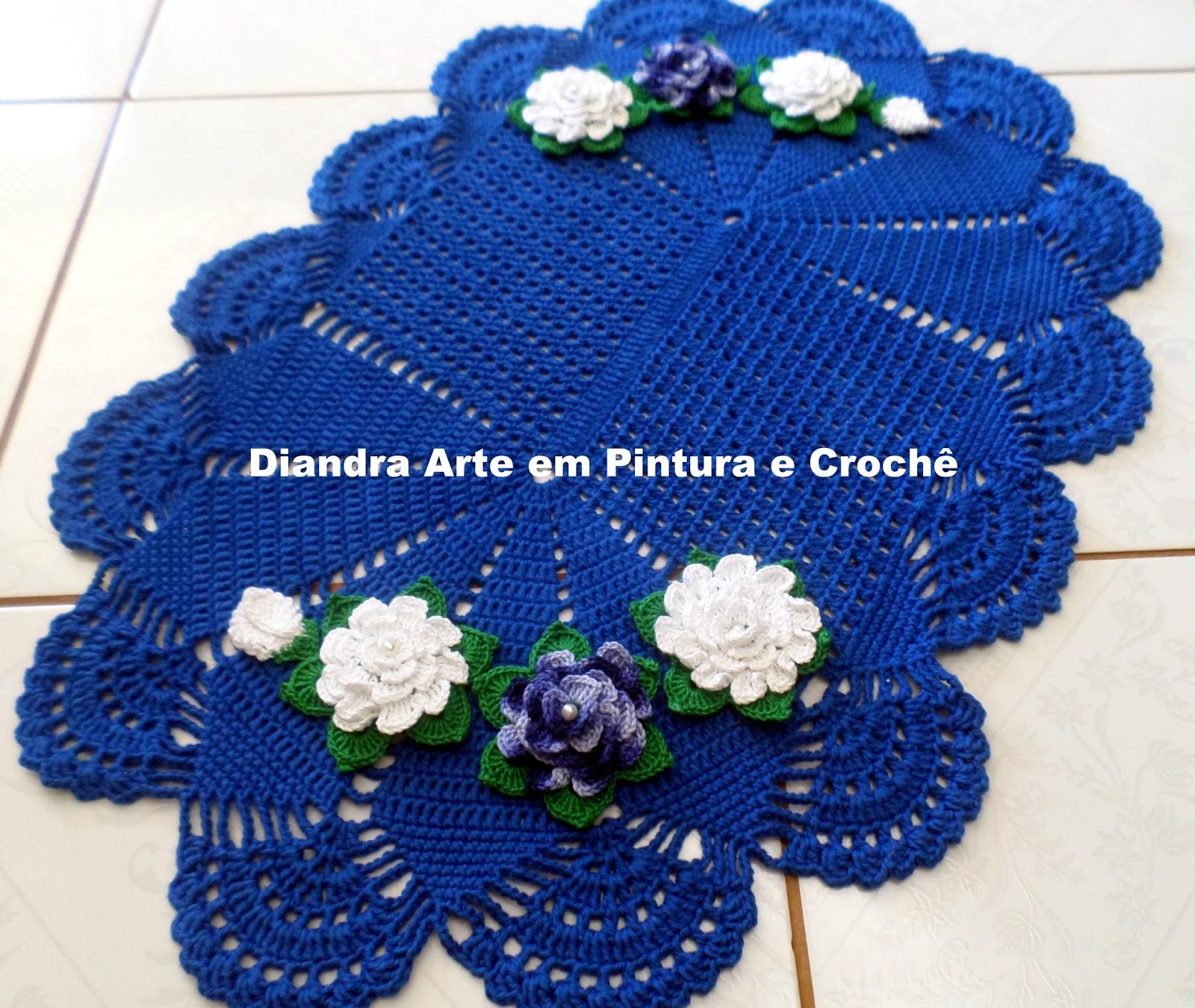 Flores Para Aplica O Em Tapete De Croche Pretty Girls -> Tapete De Barbante Com Luiza De Lugh