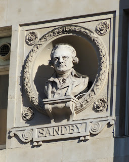 Bust of Paul Sandby, Piccadilly, London