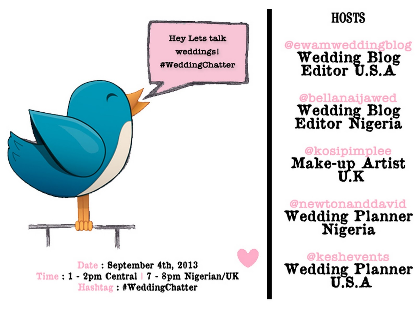 1st #WeddingChatter Tomorrow – Get All Your Wedding Questions Answered on Twitter!