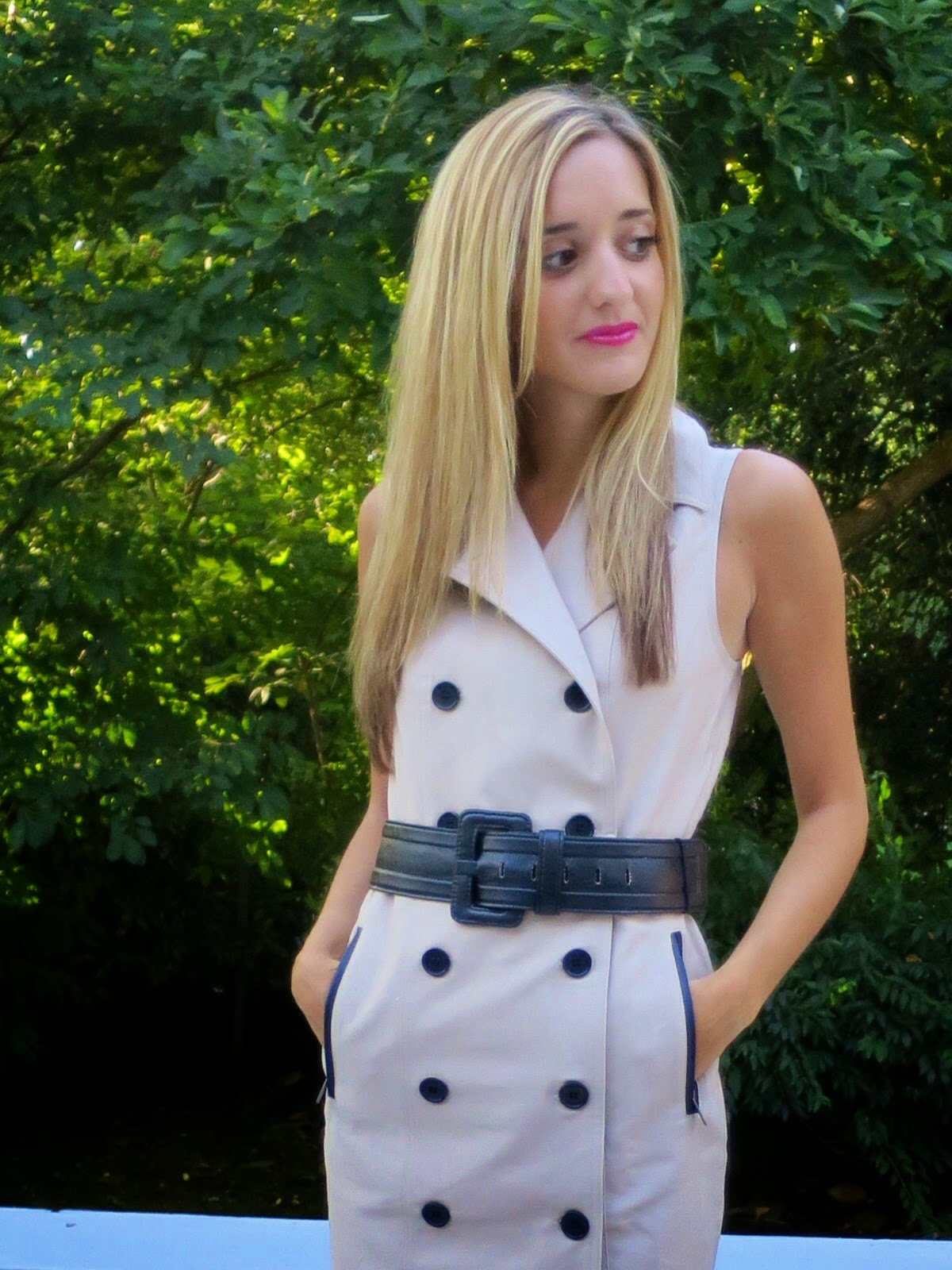 ann taylor belted trench dress