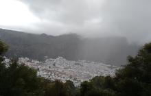 La lluvia caída en Ubrique.