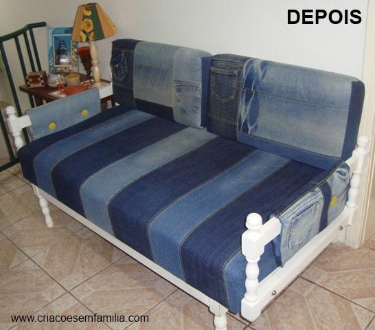 Criacoes Em Familia Cia Sofa Renovado Com Jeans
