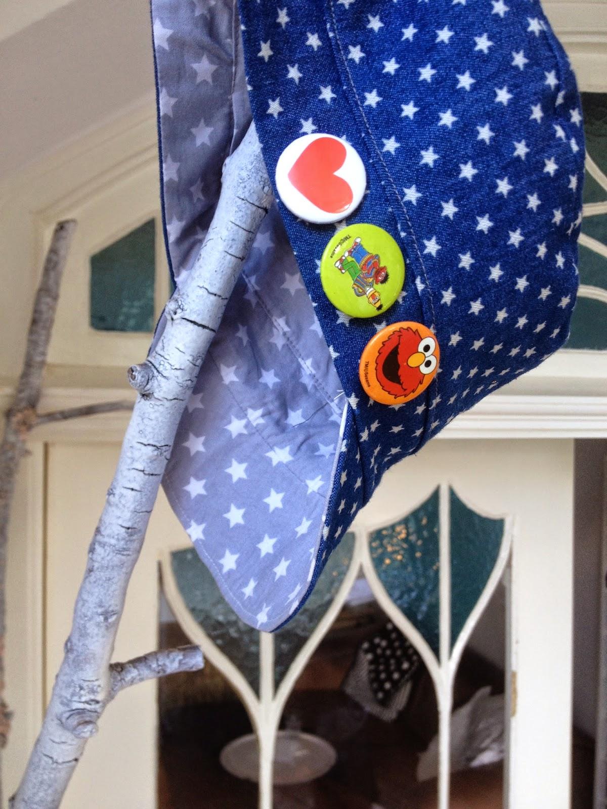 Michelmütze Schnitt Lillemo aus Jeans mit Sternen