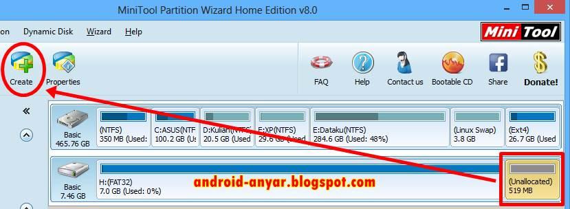 Android Tanpa Root, Membagi Memori Micro SD Eksternal HP Android tanpa