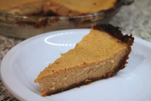 Apple custard pie with gingersnap crust