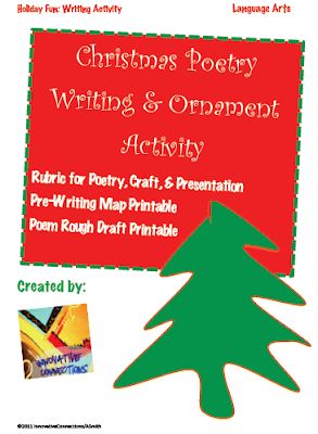Assess students on vivid language use Fun and Festive activity and craft!