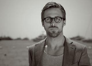 Ryan Gosling in clear lens glasses