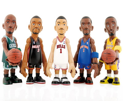 San Diego Comic-Con 2011 Exclusive CoolRain x MINDstyle NBA Playoffs Mini Figure Box Set - Kevin Garnett, Dwayne Wade, Derrick Rose, Amare Stoudemire &amp; Kobe Bryant