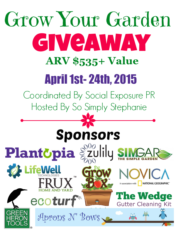 Enter the Grow Your Garden Giveaway. Ends 4/24