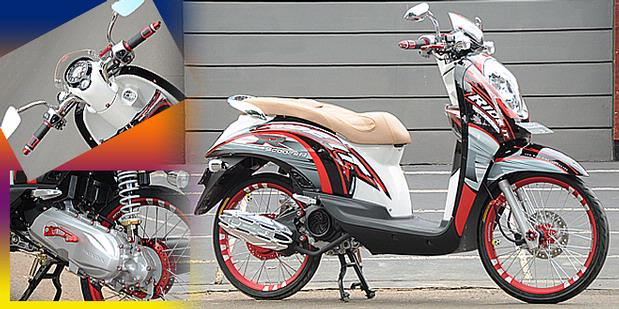 Contoh Modifikasi Honda Scoopy title=