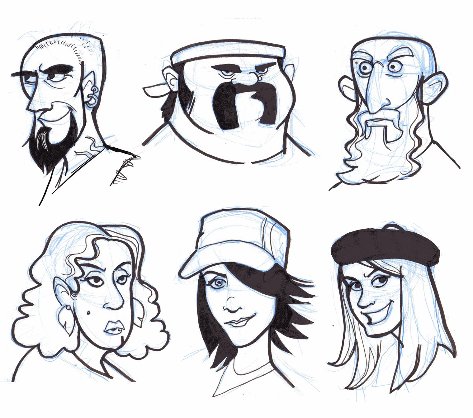 Cartoon Characters Faces : Joe pearman art cartoon faces week