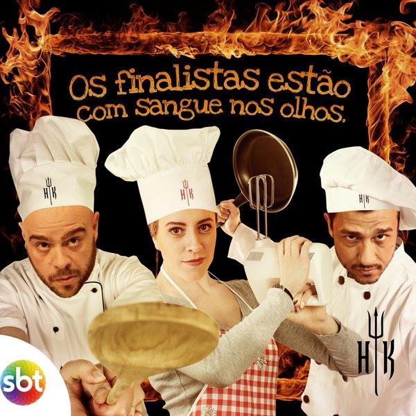 Bruno, Mariana e Rodrigo são os finalistas da terceira temporada do Hell´s Kitchen Brasil (foto: divulgação)