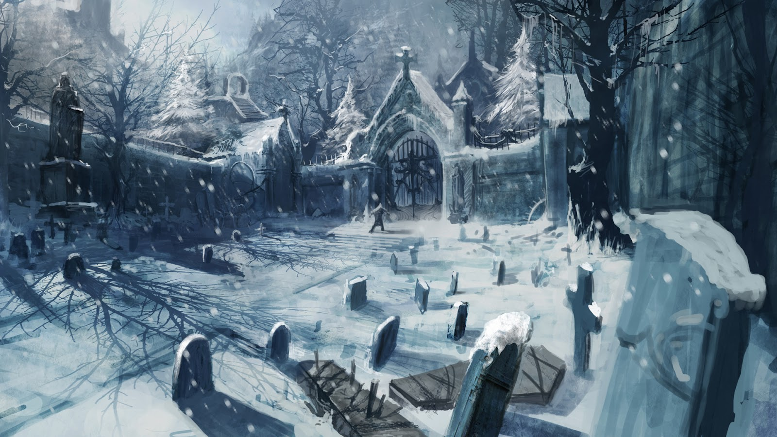 Creepy Fun Cemetery Scene Halloween Pinterest Something Wicked This Way Comes Sunday U0027s Sinister Snow
