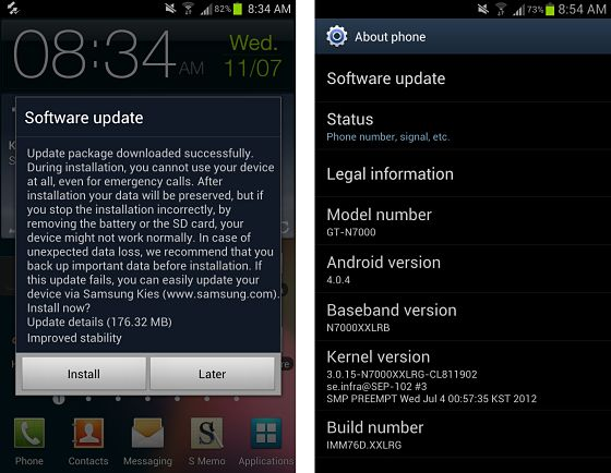 ics 4.0.4 samsung galaxy note